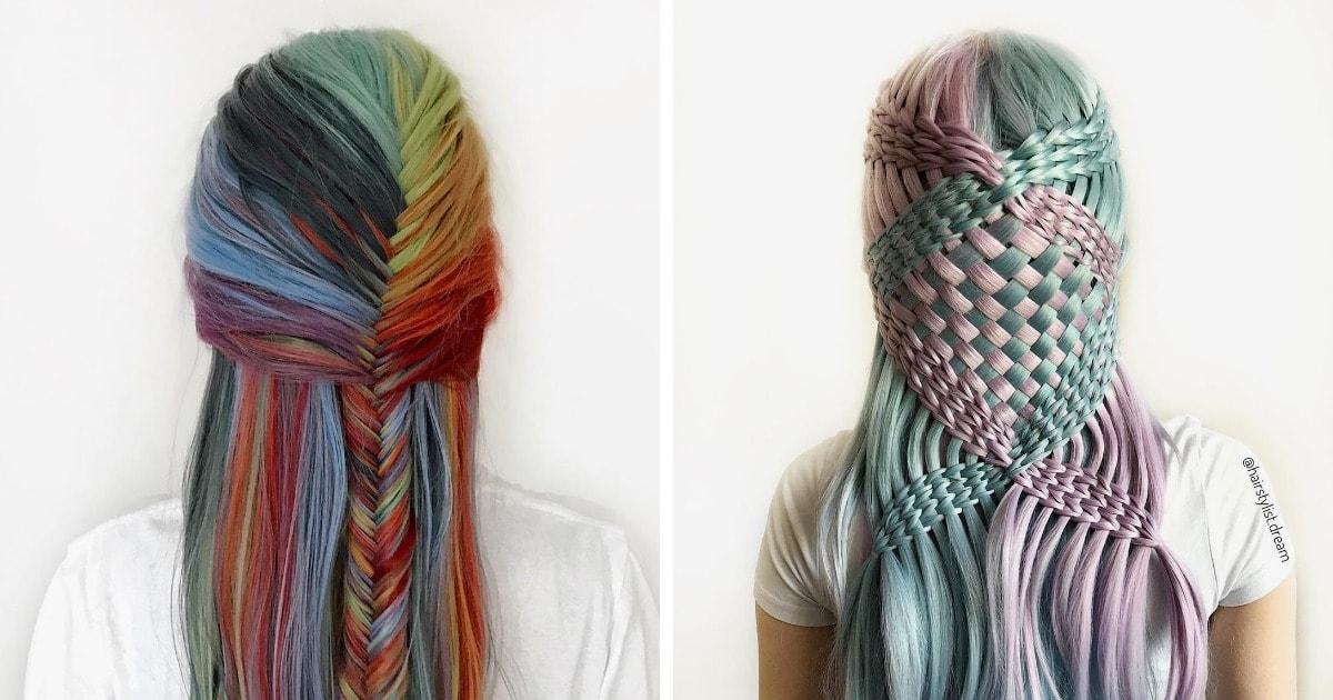20 работ от 17-летней парикмахера-самоучки из Германии, которая превращает волосы в произведения искусства
