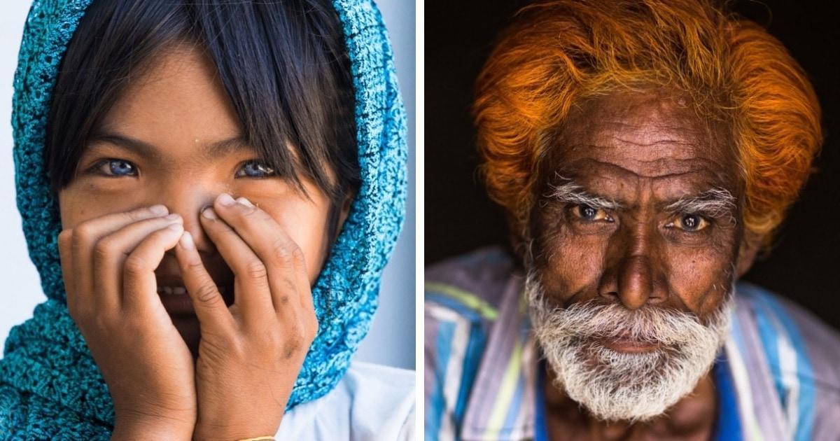 Французский фотограф показывает глубину обычных людей, делая потрясающие портреты в своём проекте «Глаза мира»