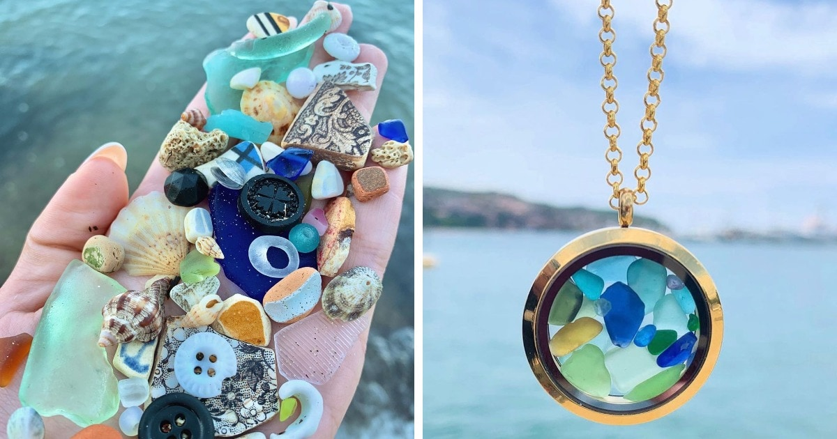 Девушка находит на пляже дары моря и делает из них украшения. И её трофеи — настоящая сокровищница русалочки