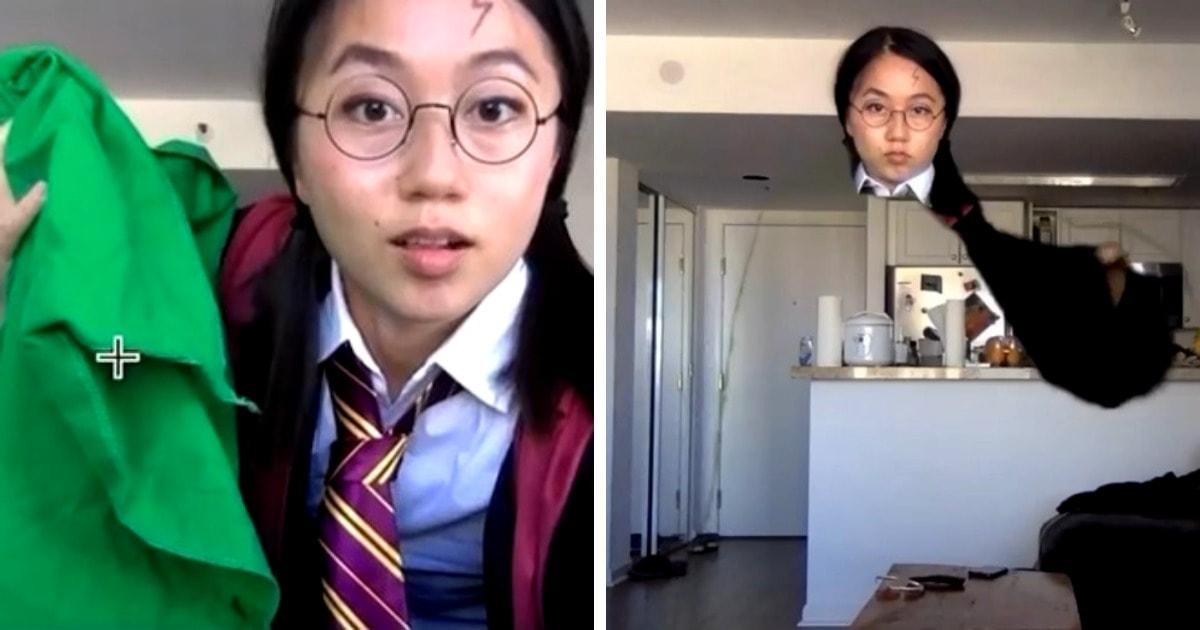 Плащ-невидимка в Zoom и слоу-мо из «Матрицы»: девушка показала, как бюджетно повторить сцены известных фильмов