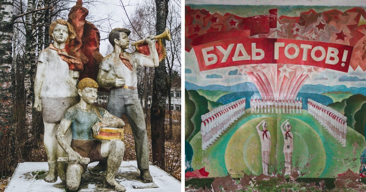 16 фотографий заброшенных детских лагерей советского союза, сохранивших дух и величие пионерского детства