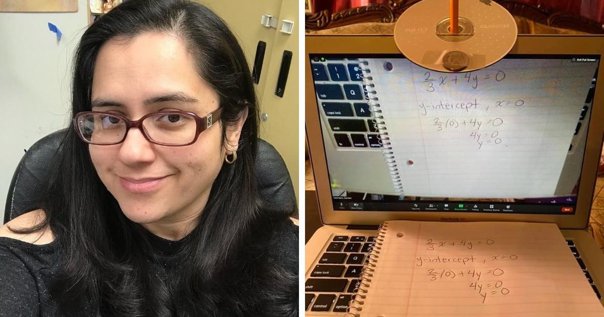 Преподаватель придумала, как показывать рукописный текст на онлайн-занятии. И этот лайфхак упростил жизнь всем