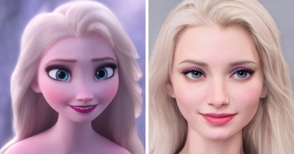 Художник представил, как выглядели бы герои мультфильмов студии Disney, если бы были реальными людьми