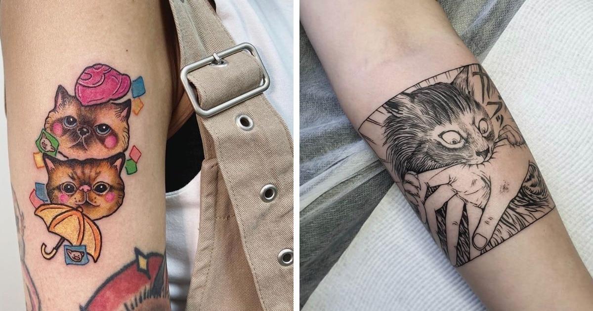20 крутых и необычных татуировок с изображением котиков, которые захочется повторить даже тем, у кого нет кота