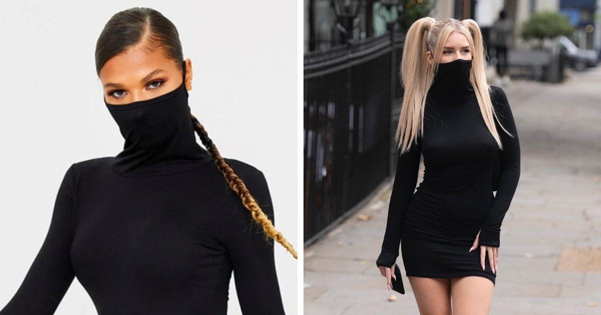 «А если чихнёшь?»: в сети заметили платье-маску, и мнения разделились, ведь к такому дизайну много вопросов