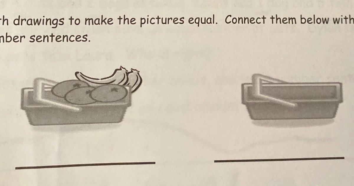 Девушка показала задачу про две корзины, и взрослые не могут её решить. Хотя она придумана для первоклассников