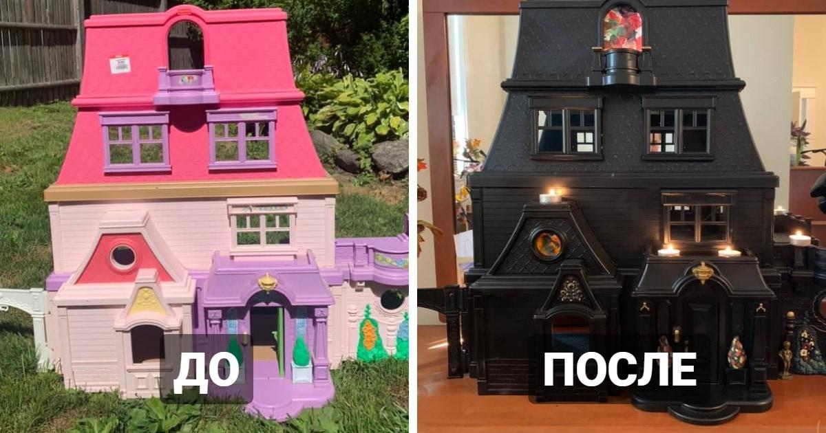 Женщина превращает приторно-зефирные домики для кукол в готичные особняки. И вам захотелось бы в них побывать