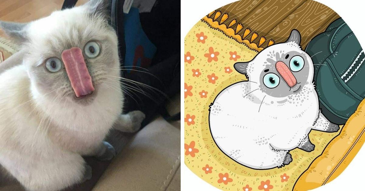 20 иллюстраций художника, который рисует вирусные снимки мемных котов. И его работы смешат не меньше оригинала