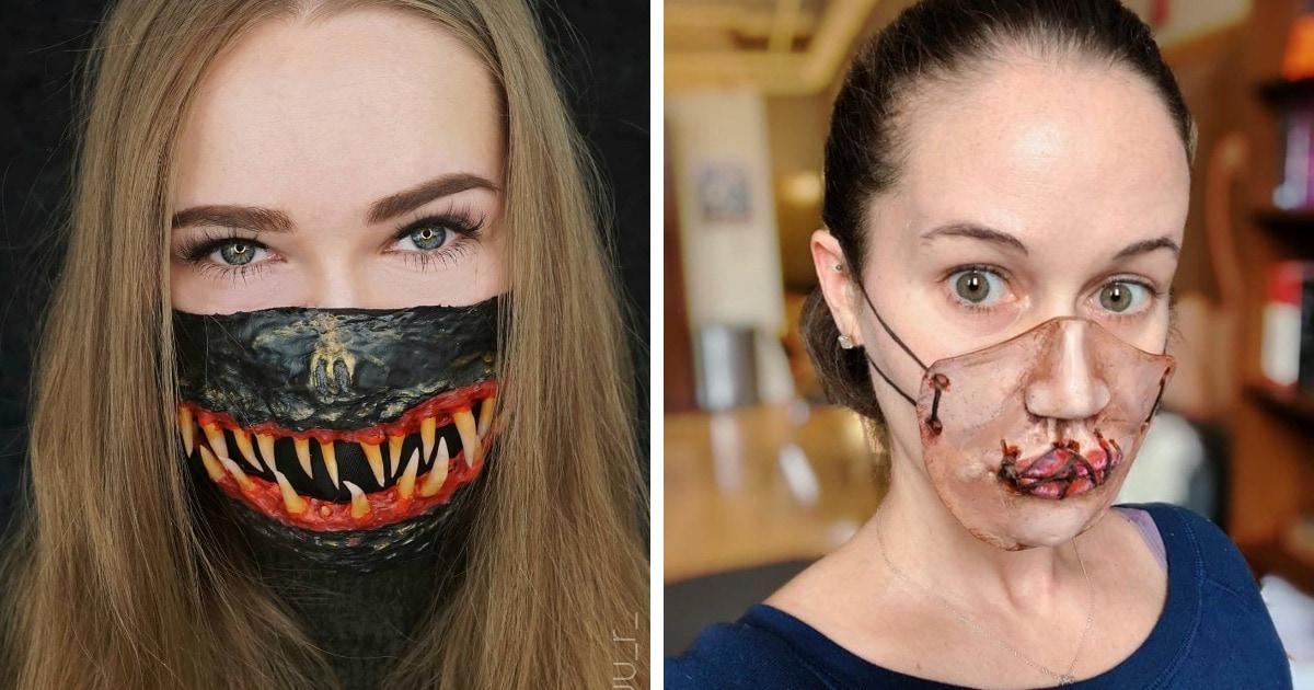 20 диковатых идей защитных масок, которые отлично дополнят костюм на Хеллоуин. То, что нужно для 2020-го!