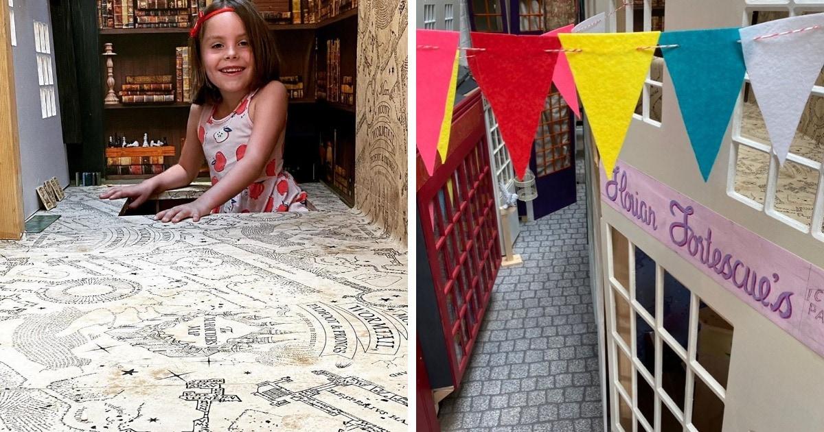 Отец сделал дочери сюрприз, построив в её гардеробной копию Косого Переулка. И в восторге все, кто это видел!