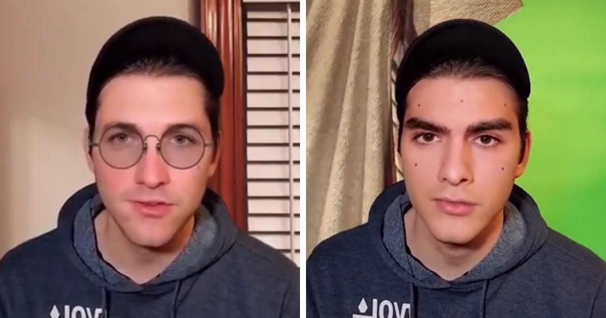 «Эти очки ненастоящие, и моё лицо тоже»: парень на видео показал, почему нельзя верить всему, что есть в сети