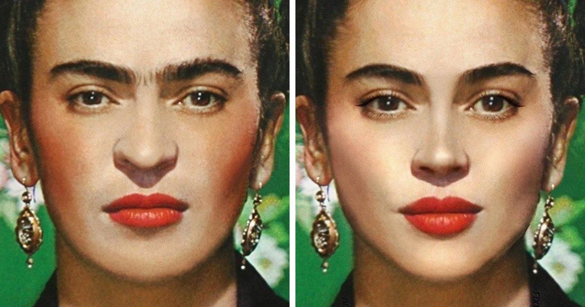 Фрида Кало, Елизавета II и Мона Лиза: как выглядели бы известные женщины, если бы делали пластические операции