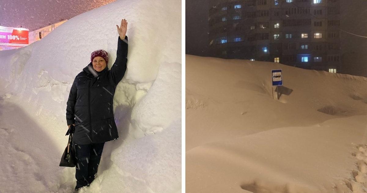 В Норильске 5 дней подряд шёл снег, и фотографии оттуда показывают, что такое настоящая зима