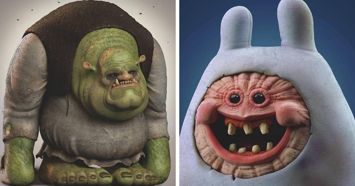 Австралиец превращает мультяшных персонажей в монстров, которые легко могут сломать психику ребёнку внутри вас