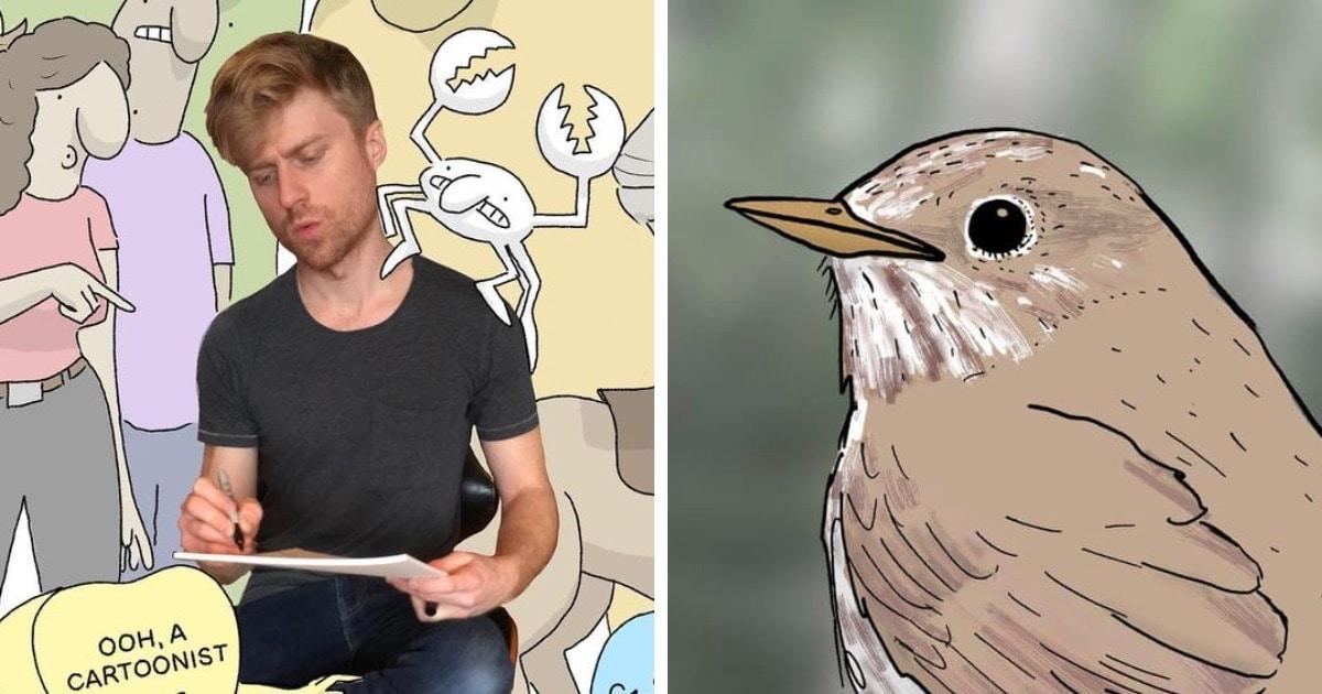 Художнику в шутку сказали, что он рисует птиц с нереалистичными лапками. Но он придумал, как ответить критикам