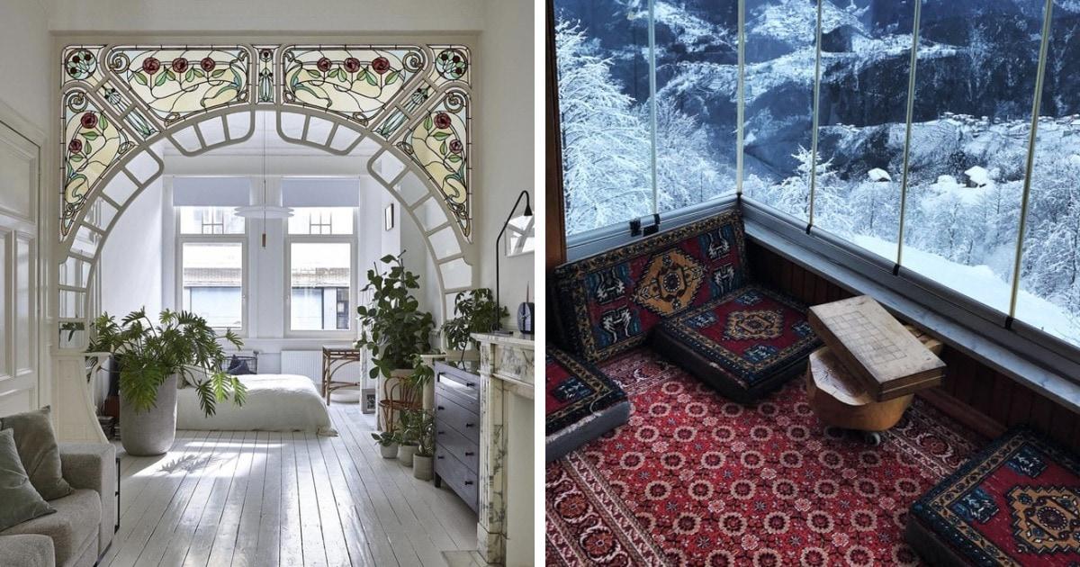 18 примеров необычных комнат со стильными интерьерами, которые вызывают эстетический восторг