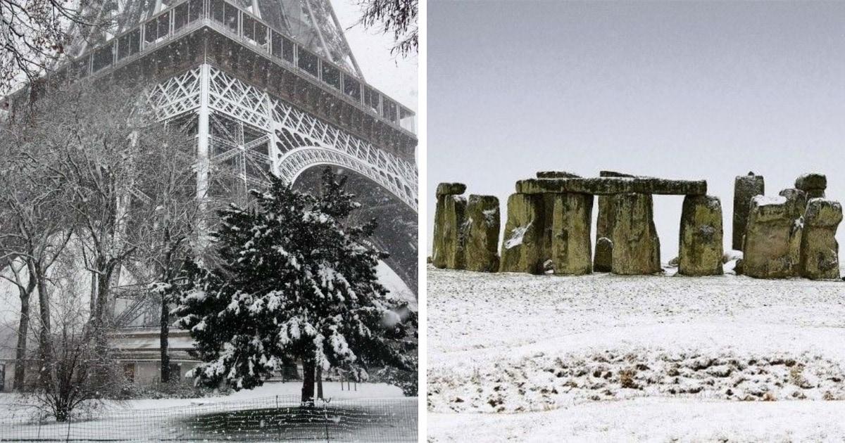15 заснеженных достопримечательностей, которые мы редко видим зимой (даже на фотографиях)