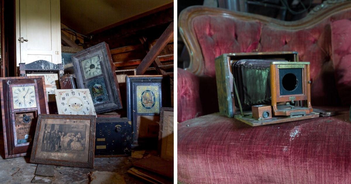 Фотограф обнаружил заброшенный коттедж часовщика и коллекционера. Это место, где и правда остановилось время!