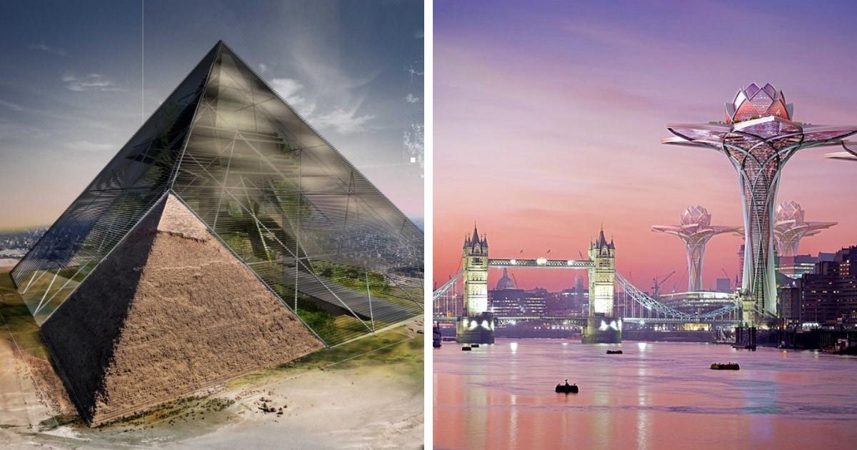 10 впечатляющих архитектурных концептов из будущего, в реализацию которых верится с трудом