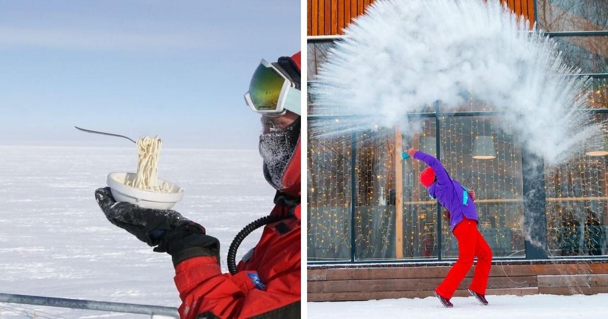 10 фотографий из морозной России, где поесть на улице зимой — значит устроить себе целое испытание