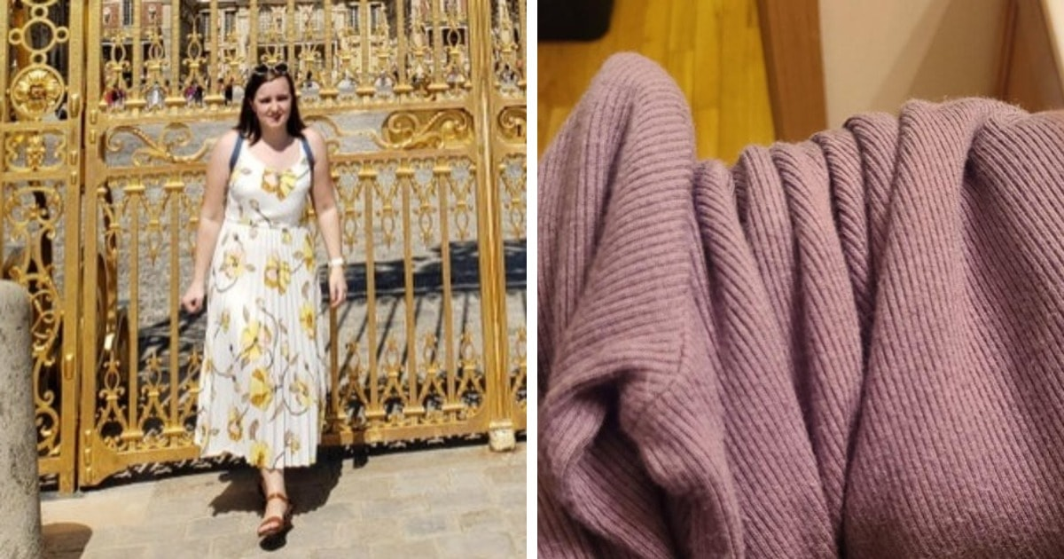 Девушка показала свой свитер и сломала людям глаза. Ведь он меняет свой цвет по щелчку пальцев