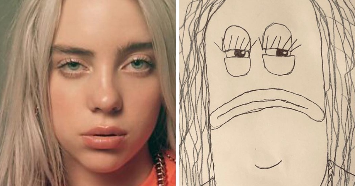 Парень рисует упоротые портреты знаменитостей, но людям нравится. Ведь это так плохо, что даже хорошо