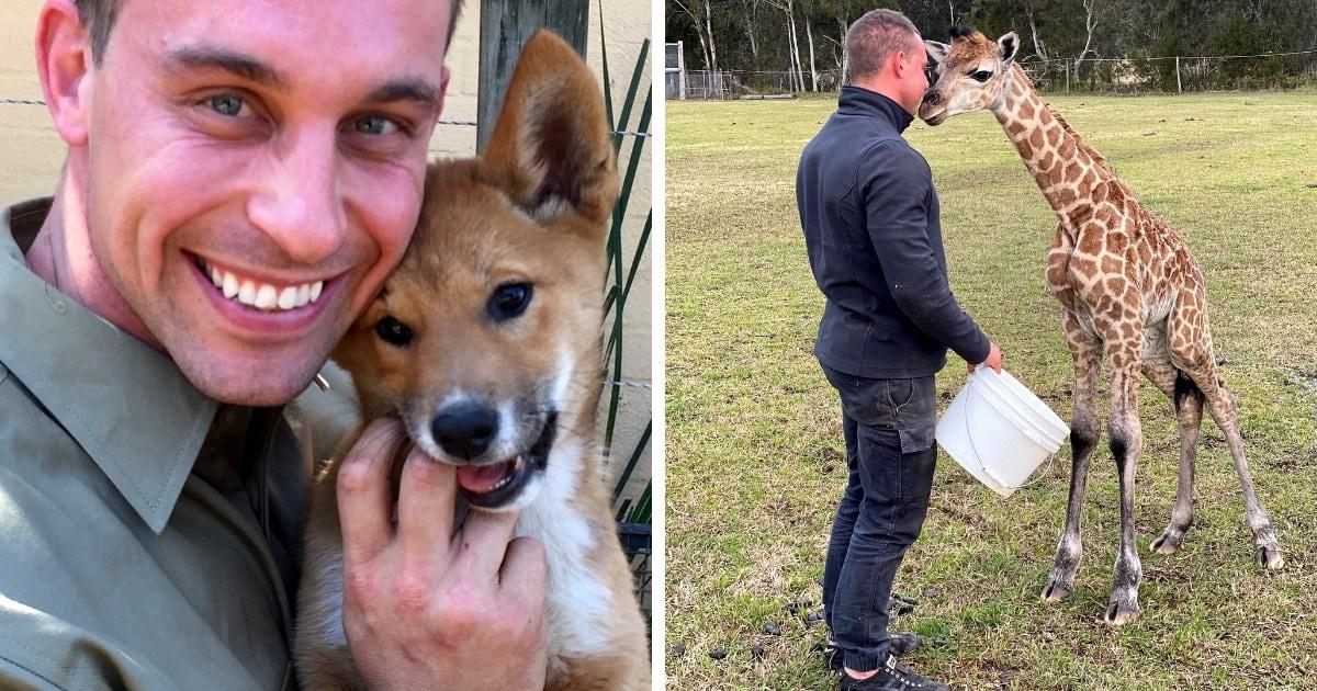 Австралиец работает в зоопарке и делится снимками с животными, каждый из которых — милота в чистом виде