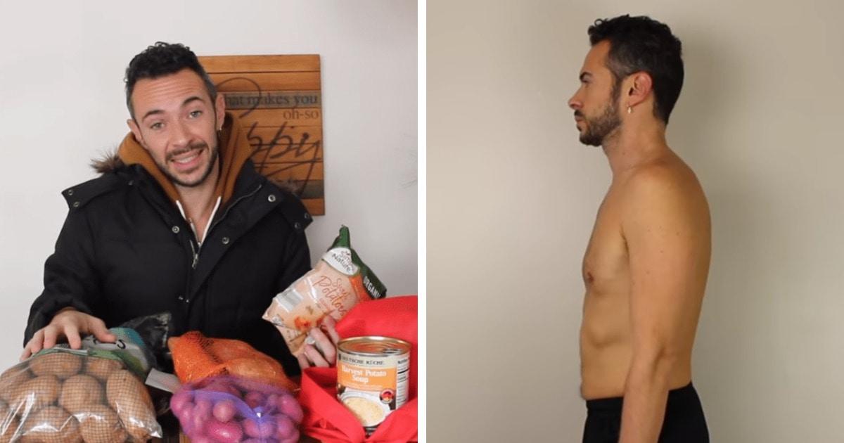 Ютубер выбрал необычную диету, в ходе которой питался только картофелем. Результат появился уже через неделю