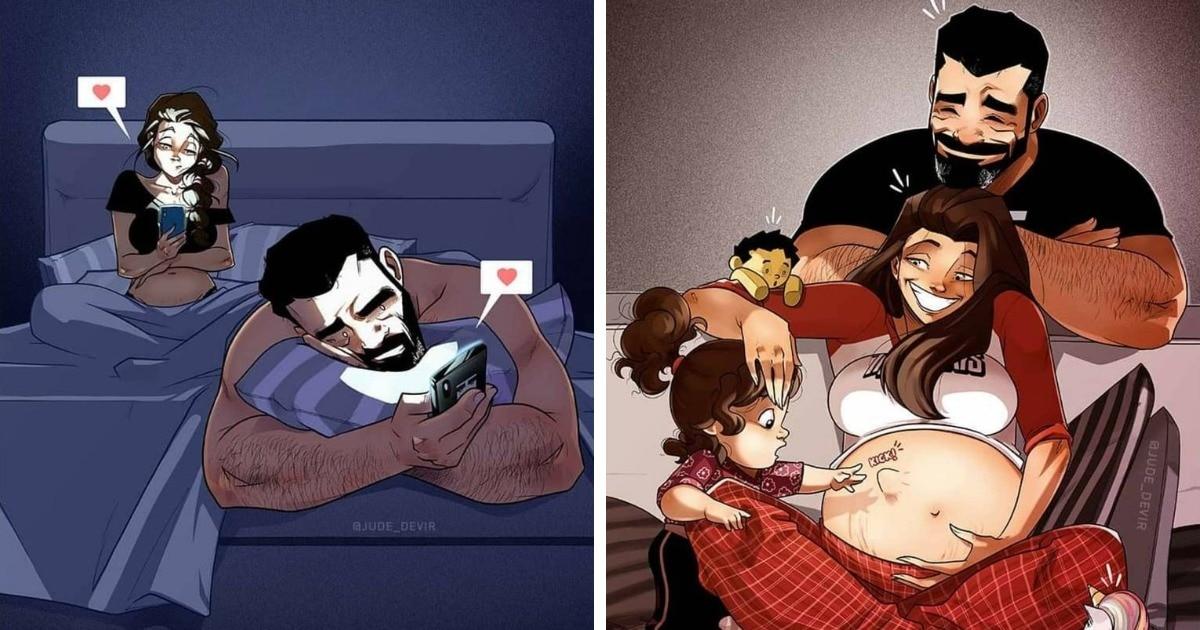 Израильский художник создаёт комиксы о жизни своей семьи, и каждый раз они попадают точно в цель