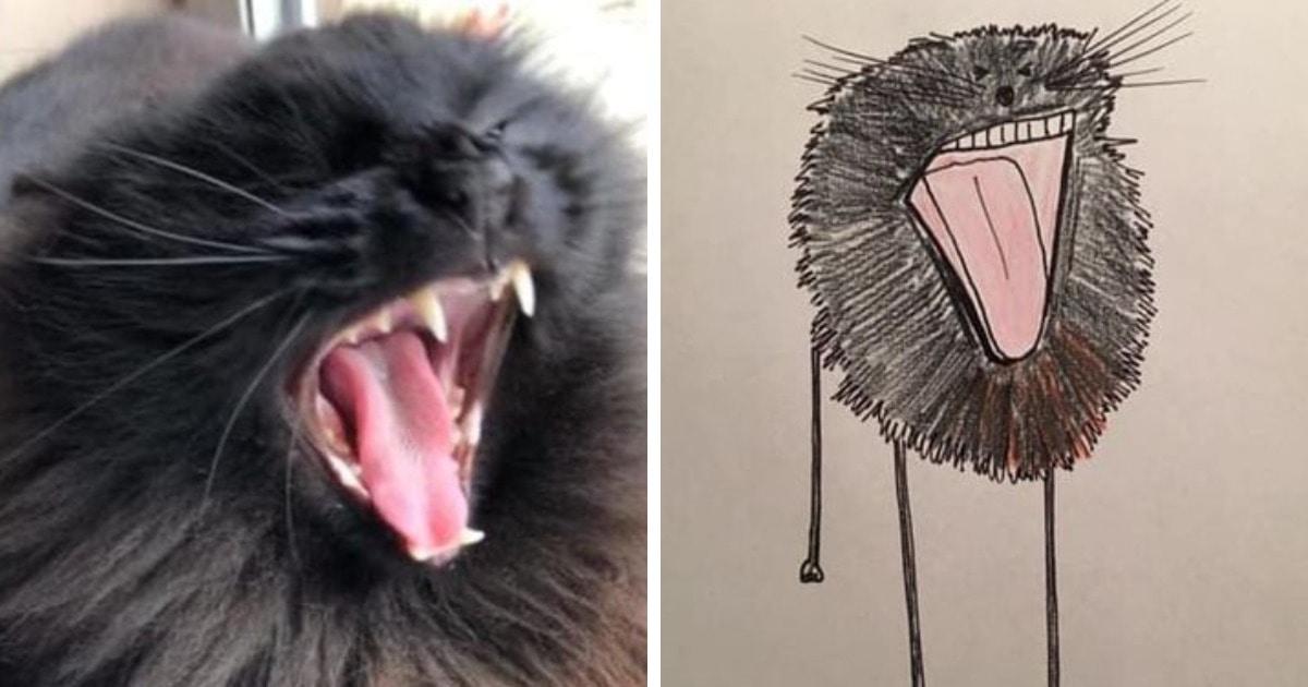 20 забавных портретов животных от художника, который не умеет рисовать, но именно за это его и любят