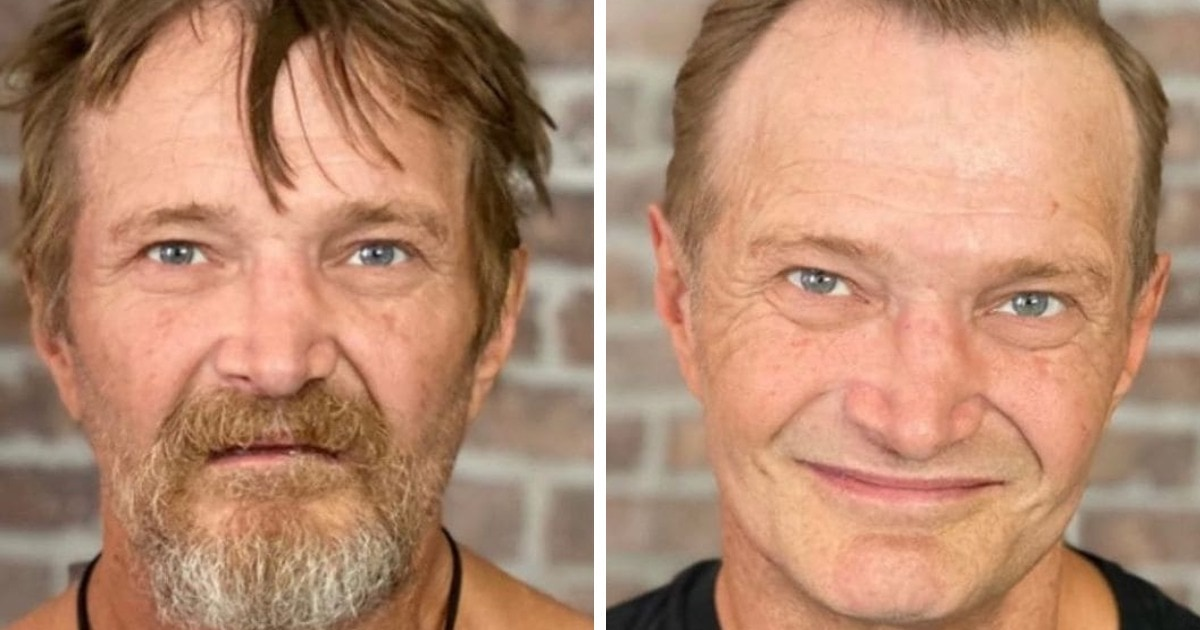 17 преображений от стилиста, который стрижёт бездомных мужчин, даря им новый образ и шанс на новую жизнь