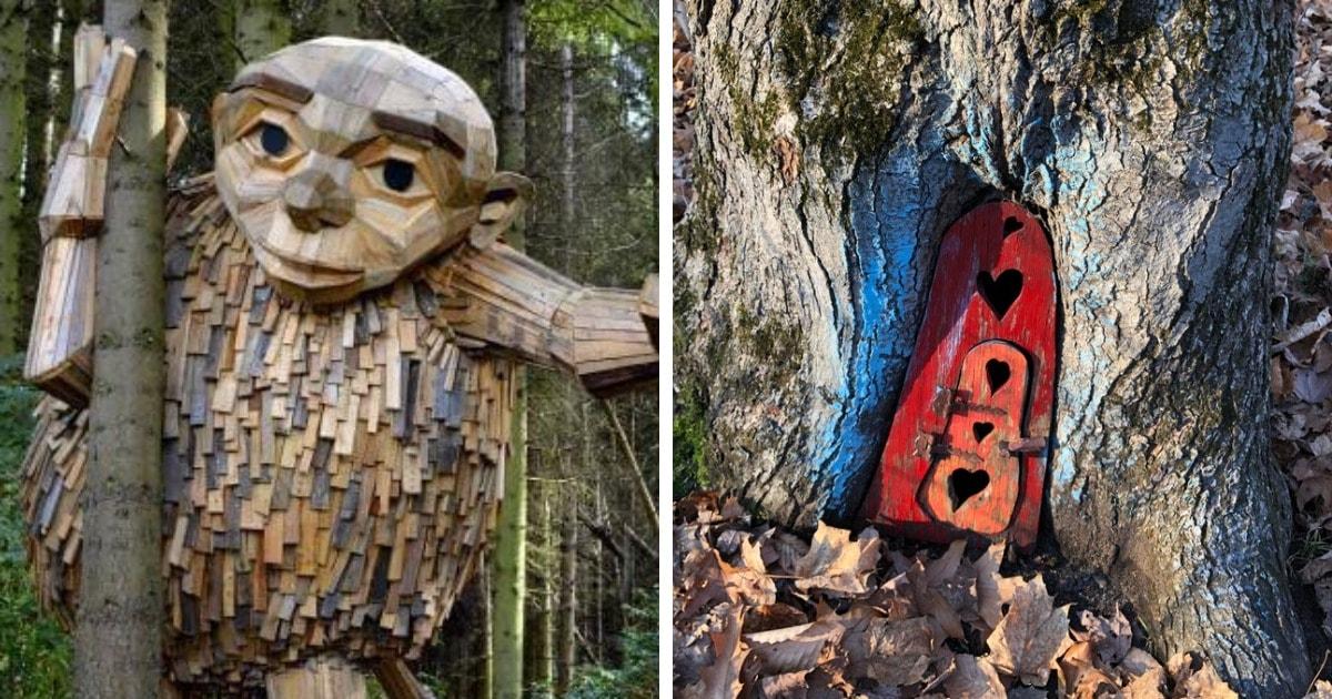 15 странных и удивительных вещей, которые внезапно оказались в лесу среди деревьев
