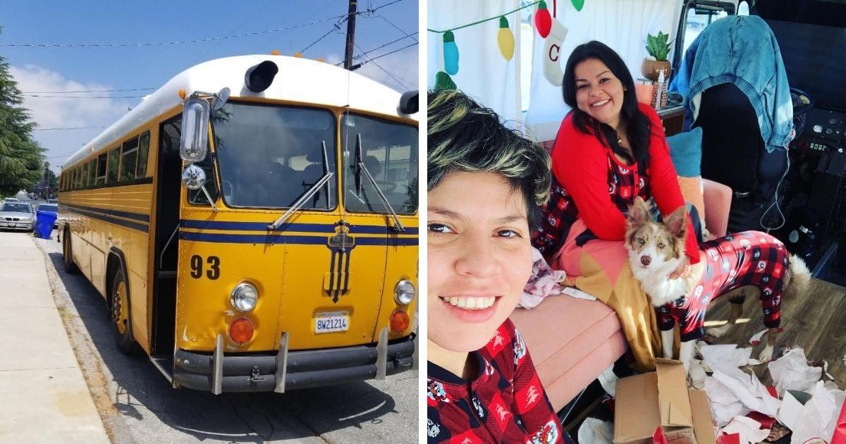 Пара купила старый школьный автобус и превратила его в дом мечты на колёсах. И эти усилия стоили каждого цента