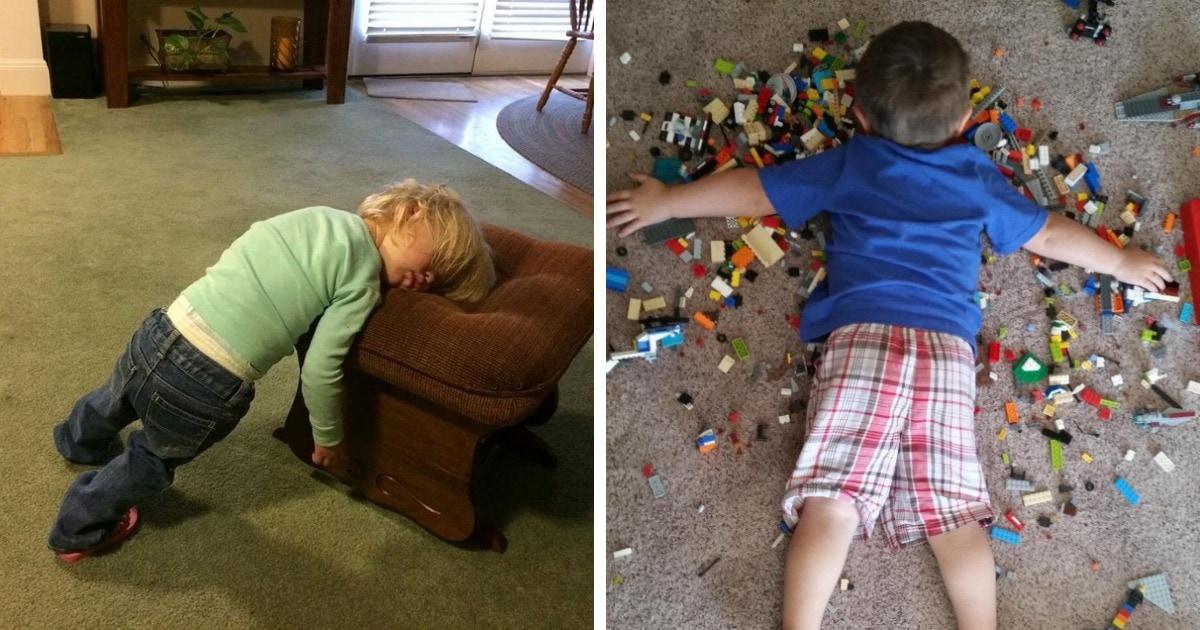 15 малышей, которые смогли уснуть в самых неподходящих для сна позах и местах и прекрасно себя чувствуют