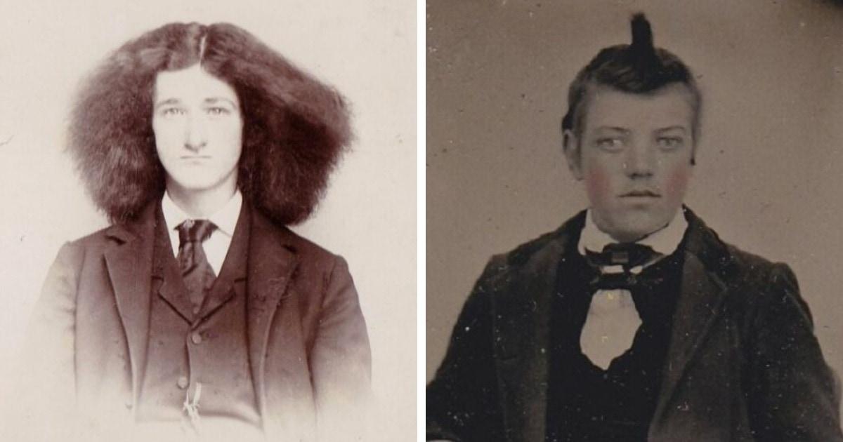 17 неловких винтажных фотографий, которые показывают, какими странными были мужские причёски в прошлом
