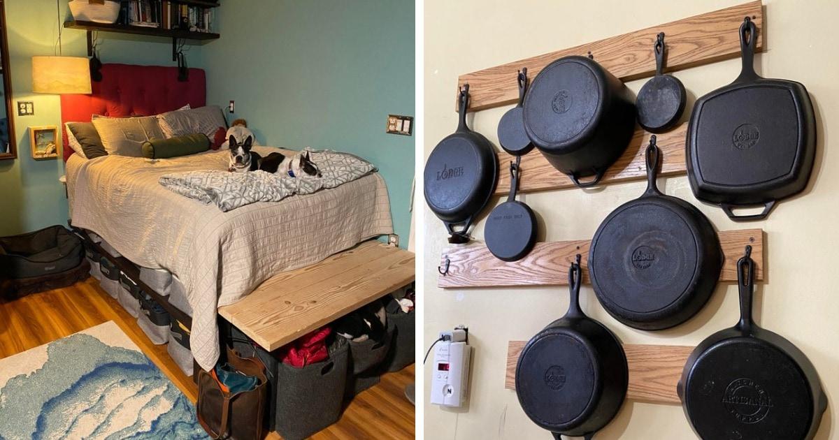 16 идей для организации пространства, которые помогут даже в маленькой комнатке чувствовать себя уютно