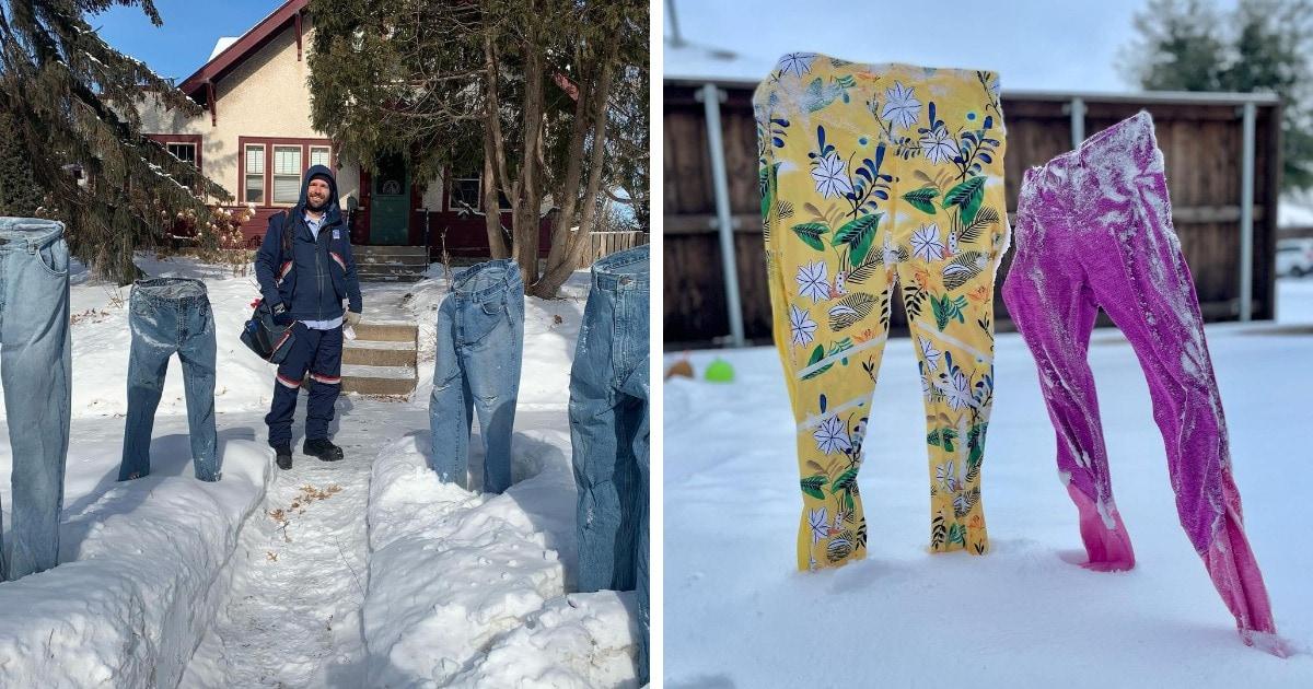 Застывшие на морозе вещи — новое развлечение весельчаков из сети. И этот челлендж позабавит даже матушку-зиму