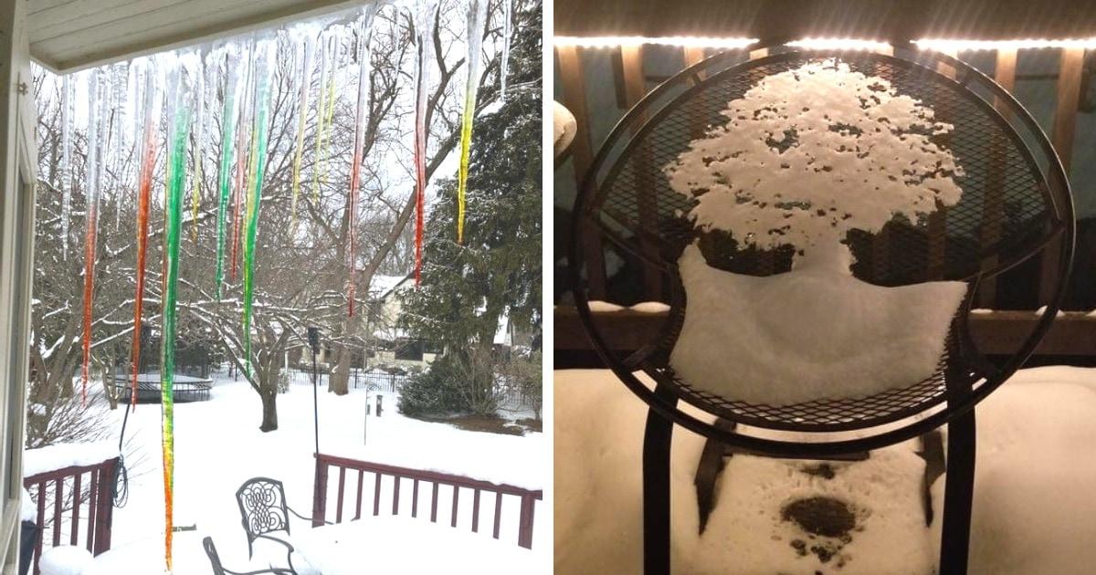 17 необычных творений зимы, которые доказывают, что она настоящая морозная художница