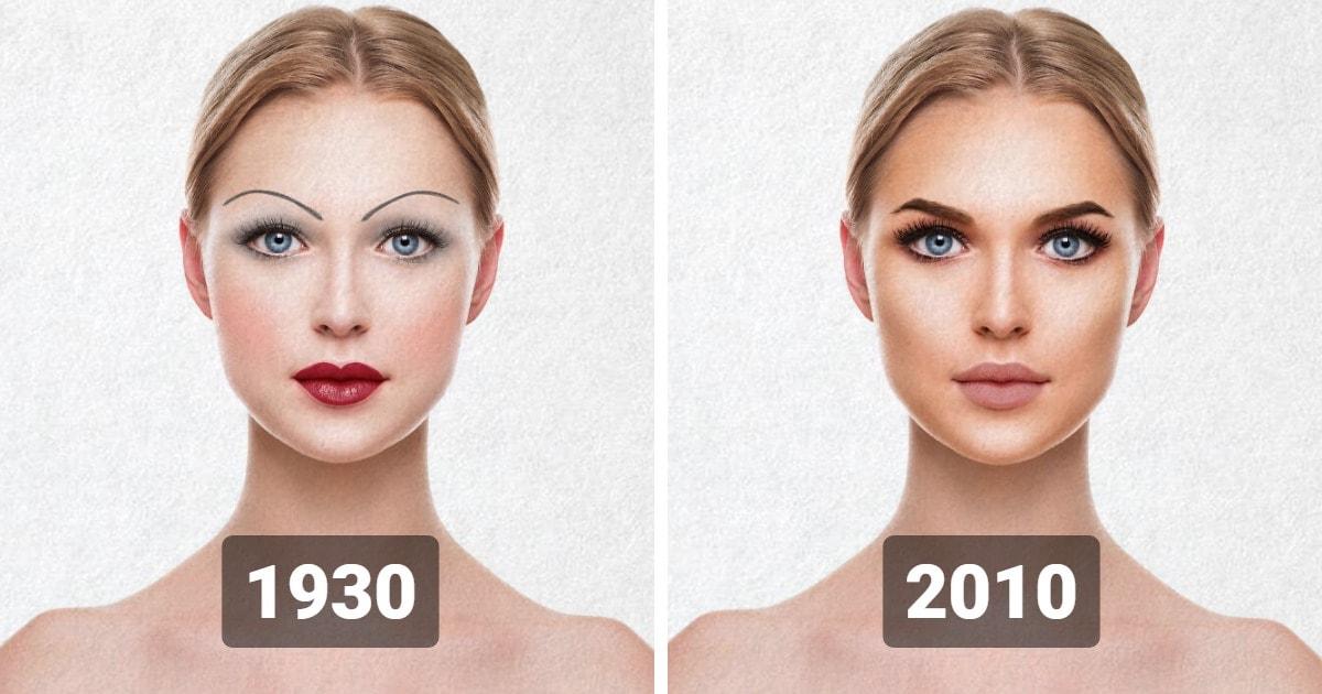 100 лет тенденций красоты: как менялись тренды макияжа каждое десятилетие с 1920-х по 2020-е