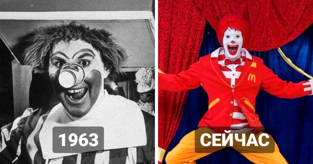 Как менялся внешний вид талисманов известных брендов: тогда и сейчас