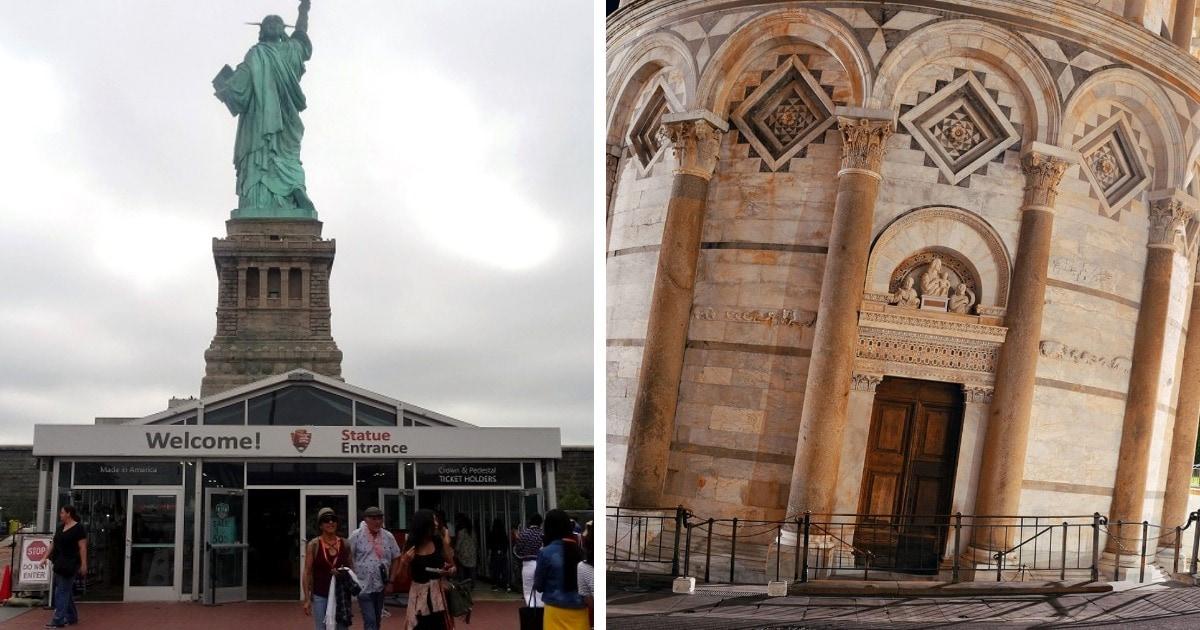 10 фотографий известных строений, которые предстают перед нами в совершенно непривычном виде