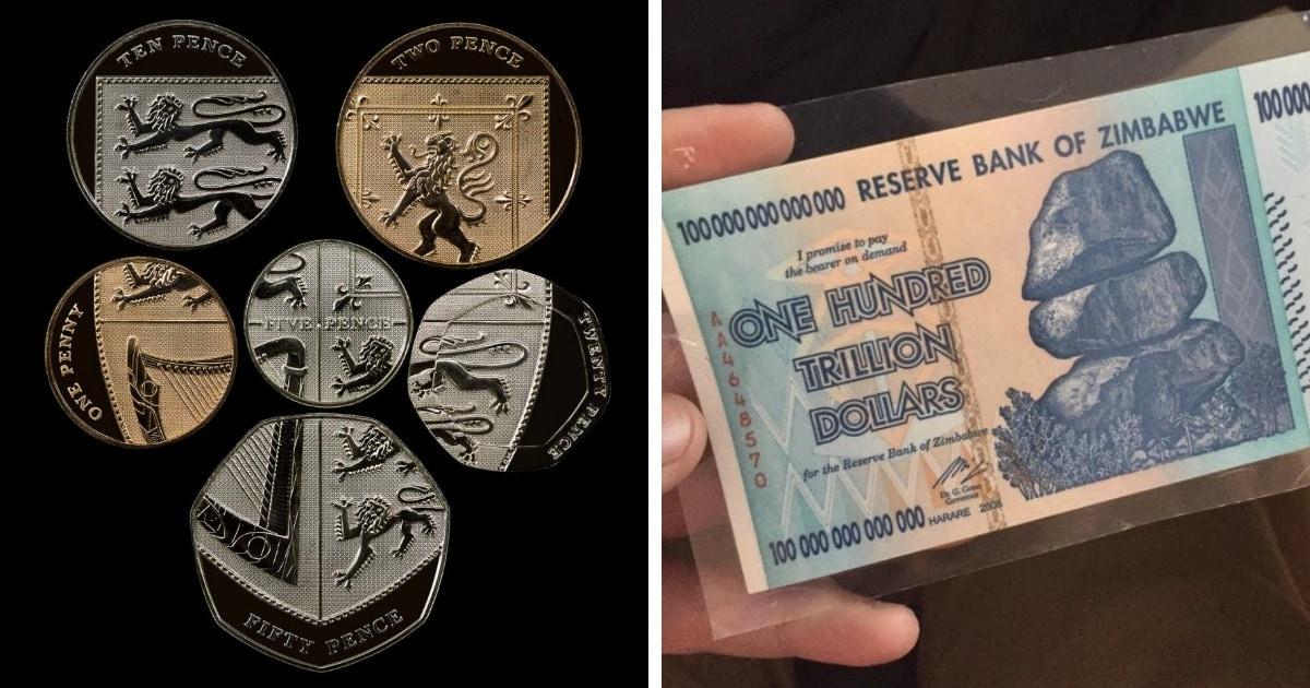 10 необычных, но реальных купюр и монет со всего света, которые доказывают, что деньги способны удивлять