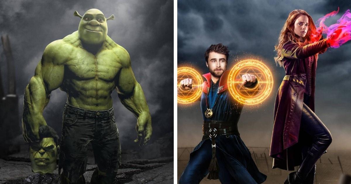 Художник объединяет двух персонажей из разных вселенных в одного, показывая, как много у них общего