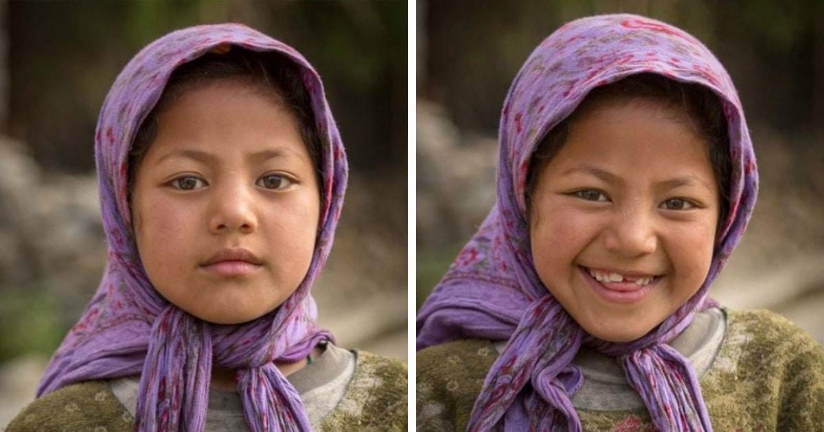 «Я попросил их улыбнуться»: фотограф на примере людей из разных стран показывает, как их меняет улыбка