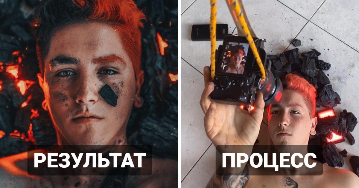 Фотограф показывает, как создаёт автопортреты, доказывая, что шедевр можно снять и без посторонней помощи