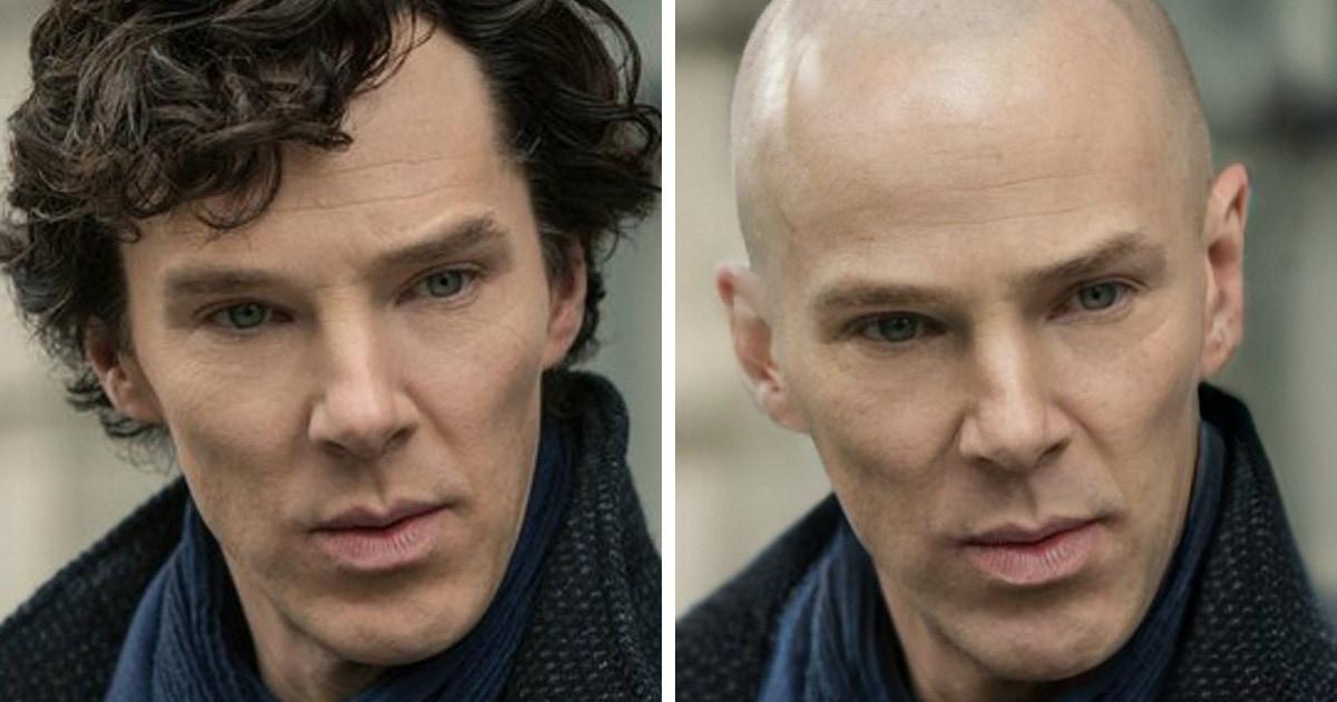 15 коллажей, которые покажут, как выглядели бы персонажи фильмов, если бы создатели решили сделать их лысыми