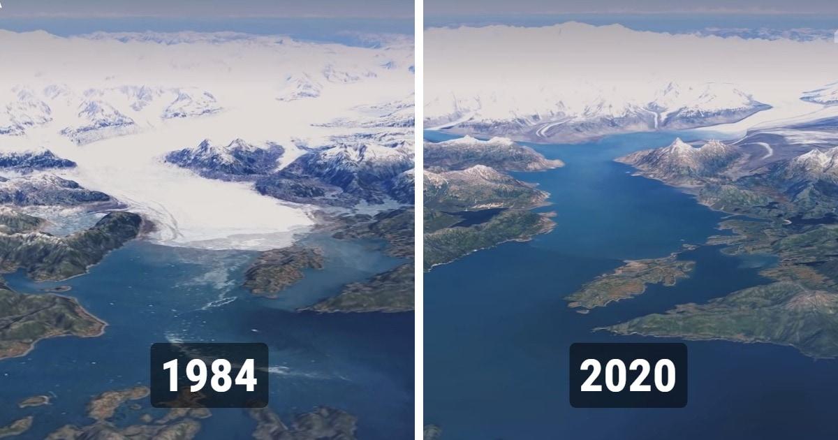 Google Earth с помощью снимков со спутников показали, как изменилась наша планета с 1984 по 2020 год