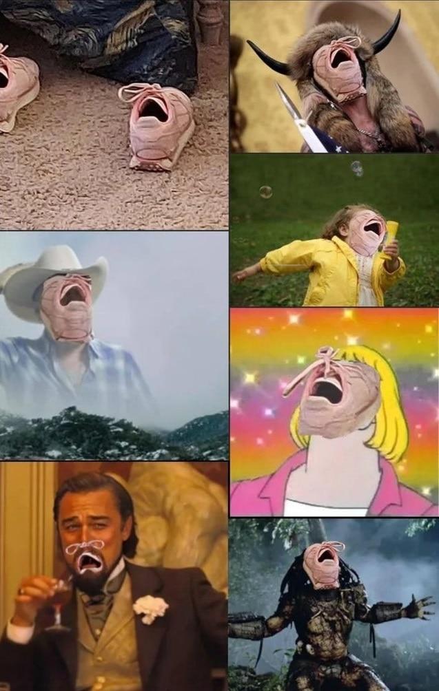 Обычные кроссовки превратились в мем и героев фотошопа. Всё дело в том, что они кричат — и это не развидеть