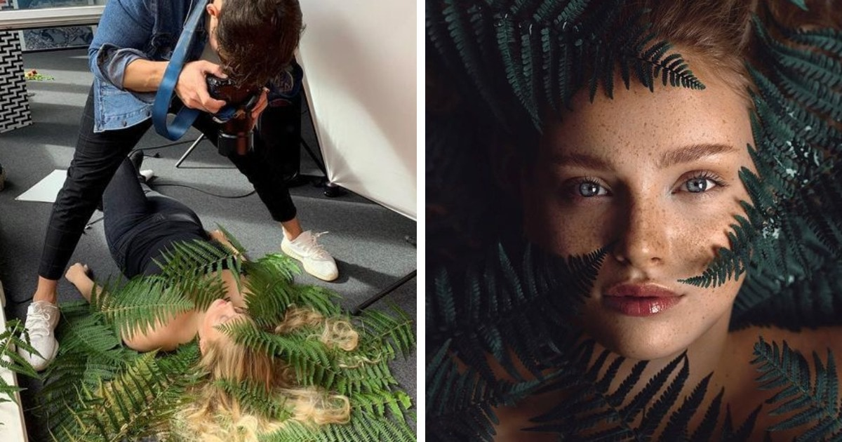 Фотограф сравнивает закулисье и глянцевую сторону своих снимков, показывая, что творится за кадром его работ