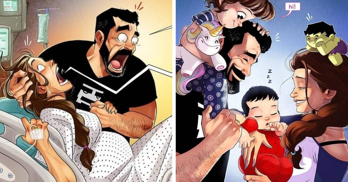 У израильского художника родился второй ребёнок. А это значит, что в их комиксах появился ещё один герой!